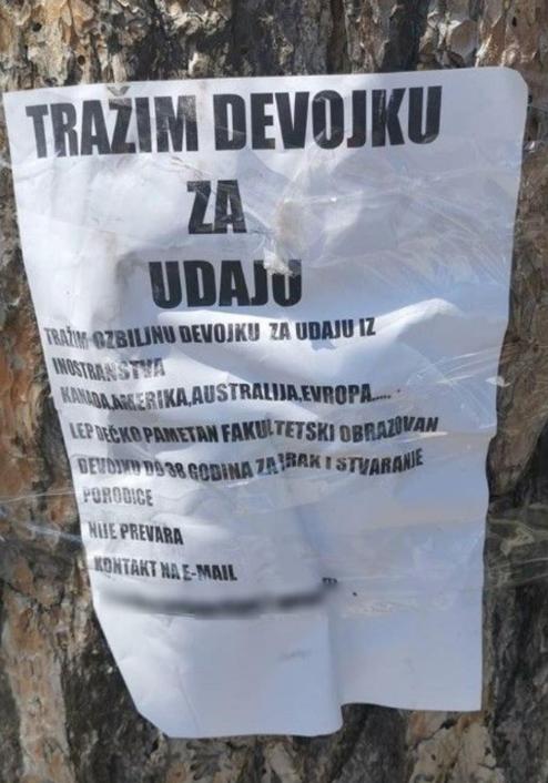 Trazim muskarca za brak hrvatska