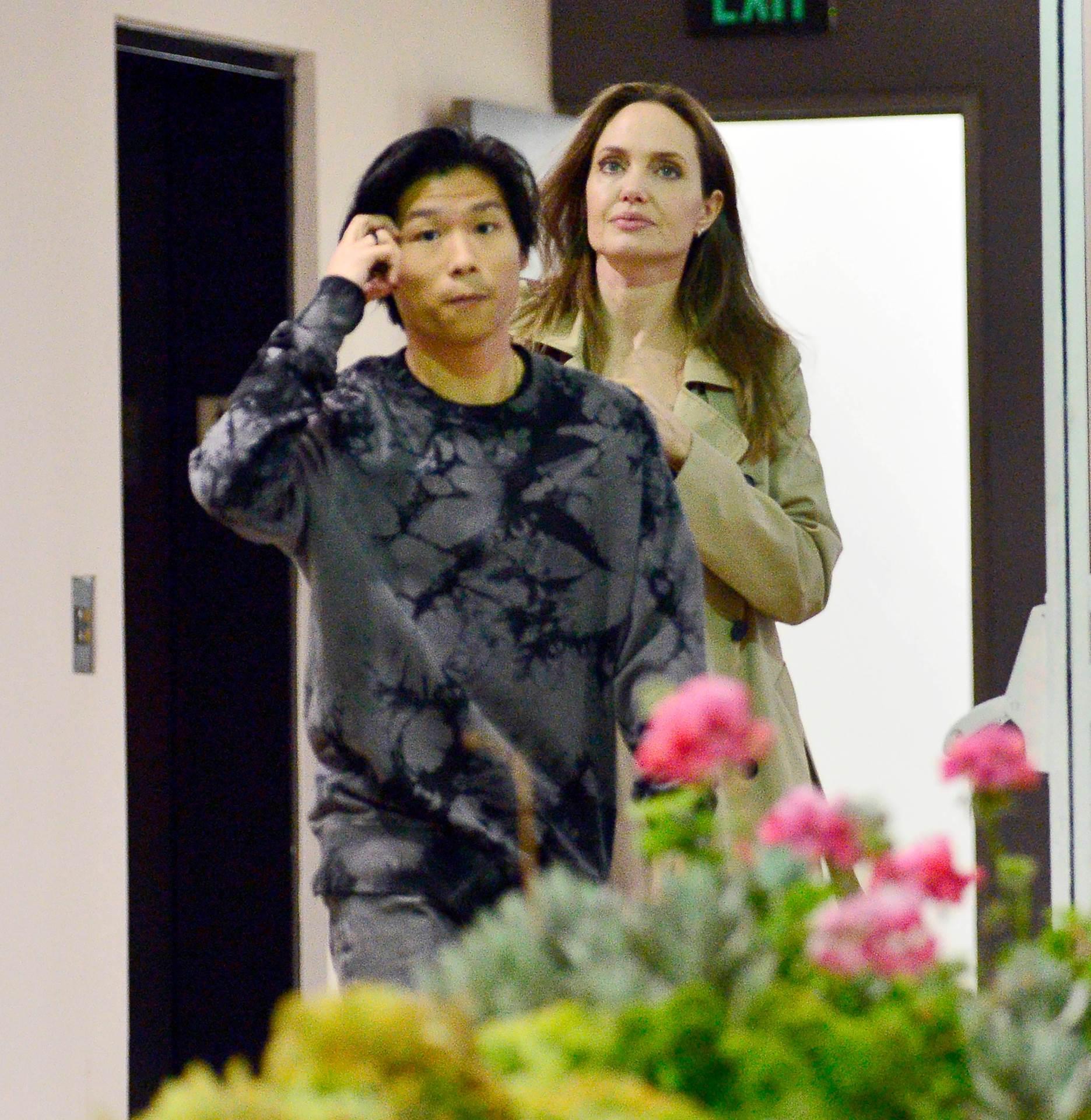 Angelina Jolie i sin Maddox