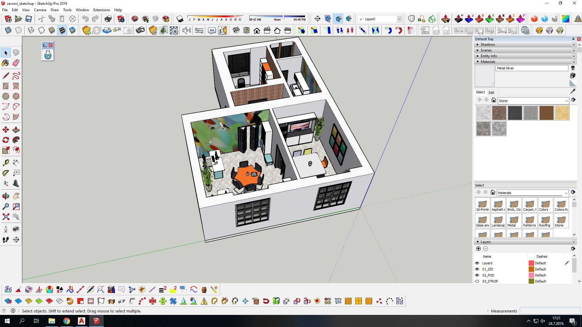 Daniela Božić: 3D modeliranje interijera u SketchUp Pro 2019.