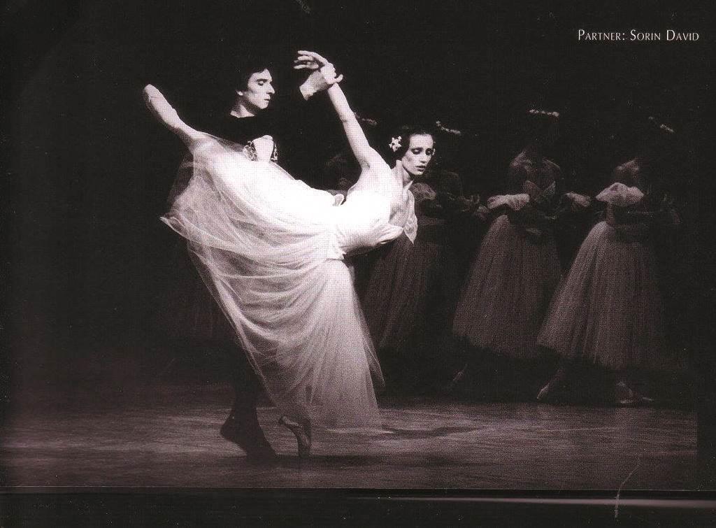 uloga Giselle u baletu Giselle sa bivšim suprugom Sorin Davidom