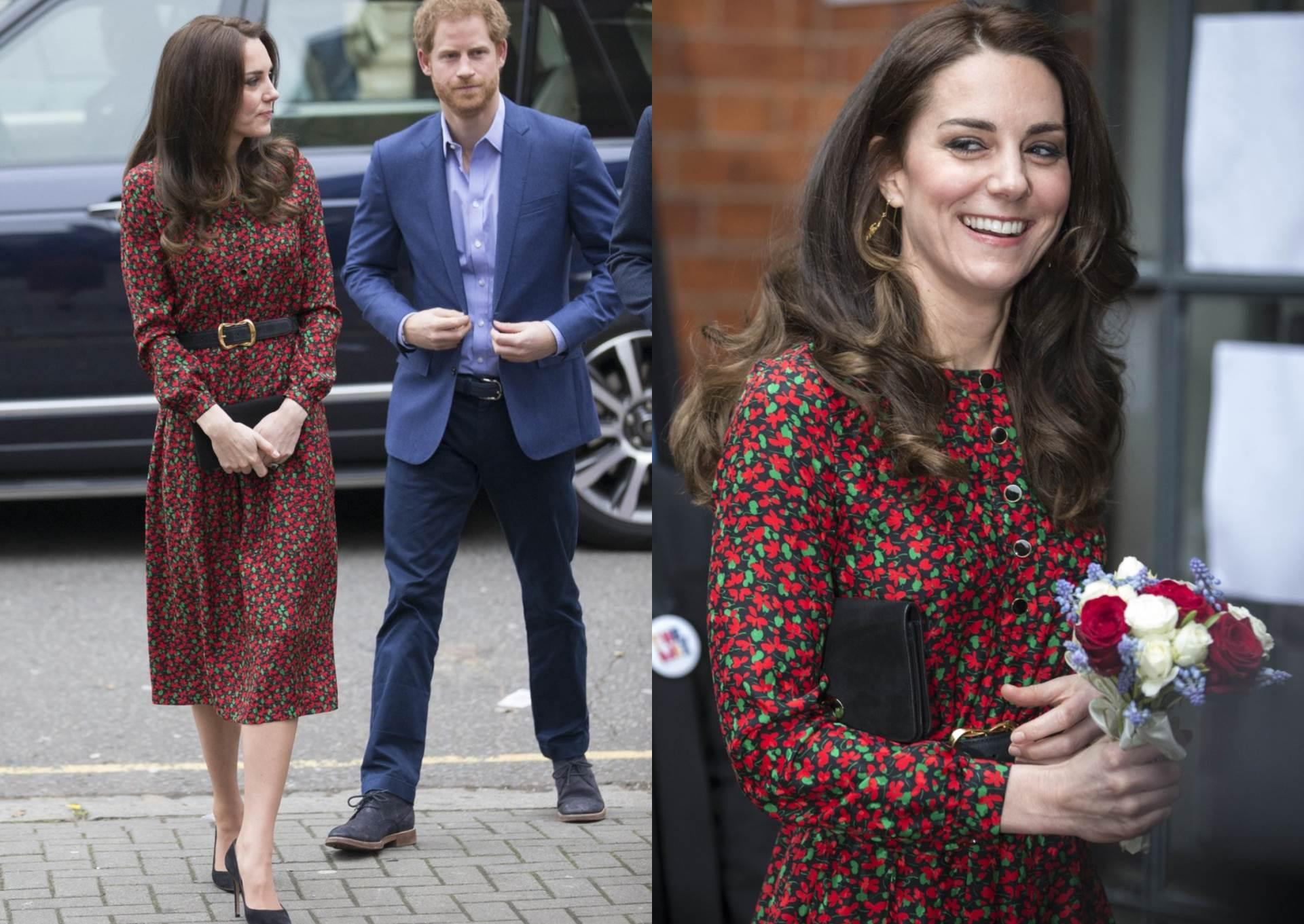 Kate Middleton u cvjetnoj haljini Vanesse Seward