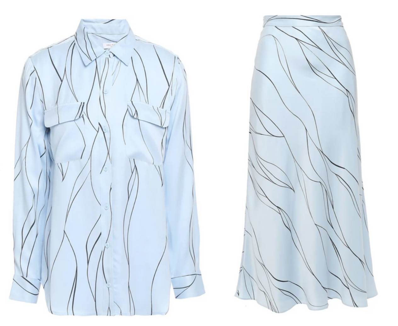 Equipment košulja $306, suknja $383