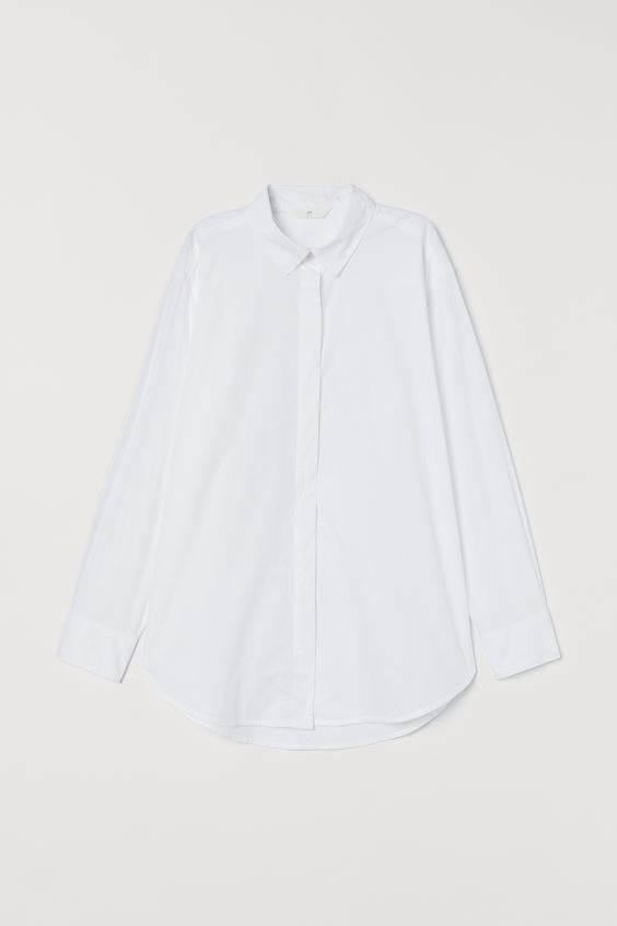 H&M, predimenzionirana pamučna košulja, 150kn