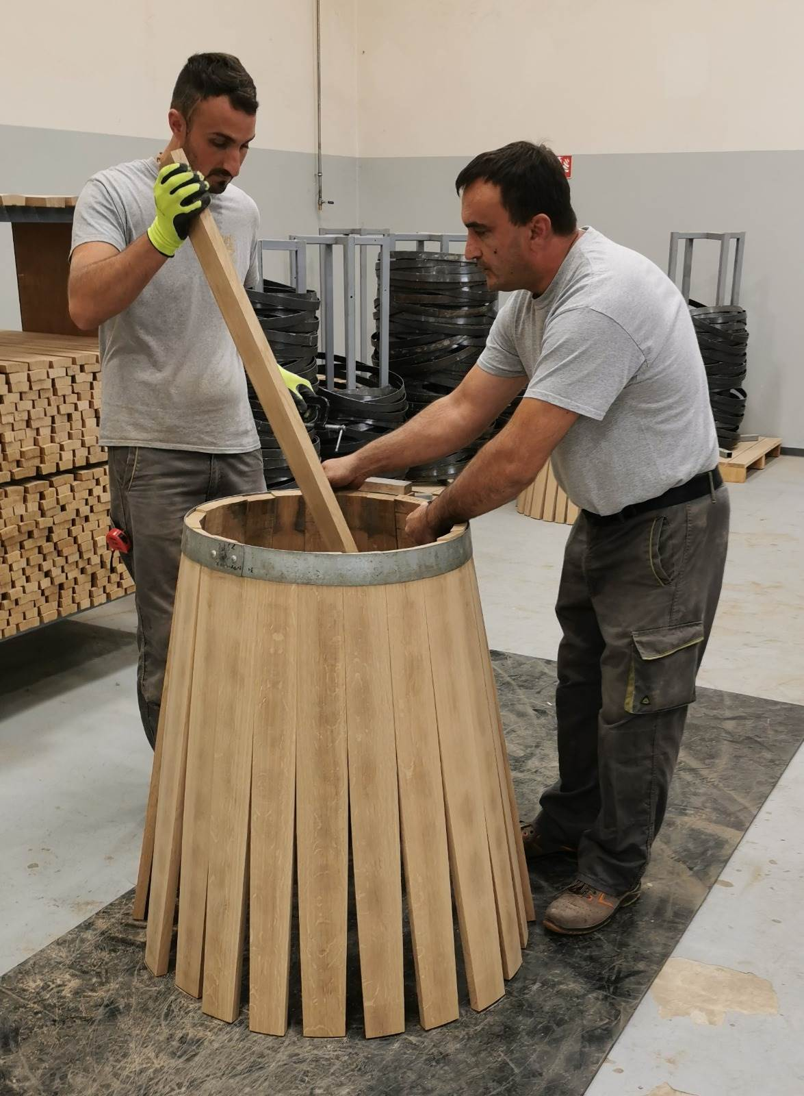 Spremno za isporuku; Sušenje hrastovine za barrique
