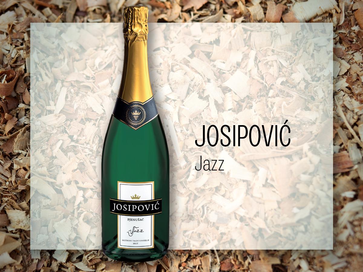 Josipović, Jazz; uz ribu, rižota, tjestenine, plodove mora, piletinu, puretinu; 100,50 kuna, pjenusci.hr