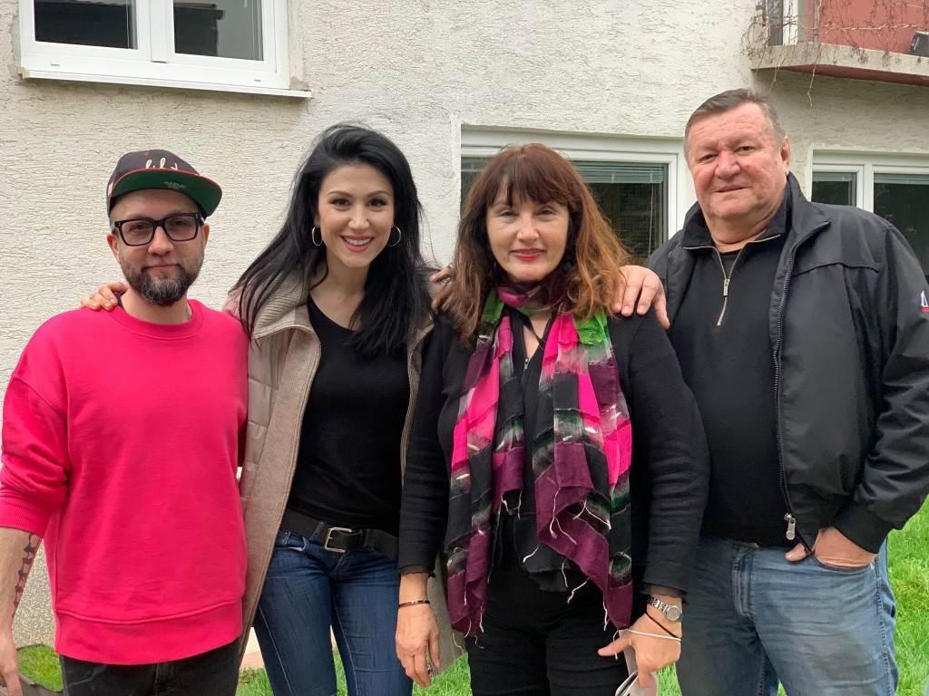 Danijel Majcen, Ana Rucner s roditeljima Snježanom i Draganom