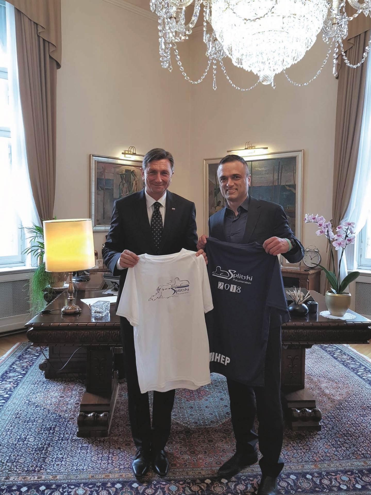 S Borutom Pahorom u Predsjedničkom uredu u Ljubljani