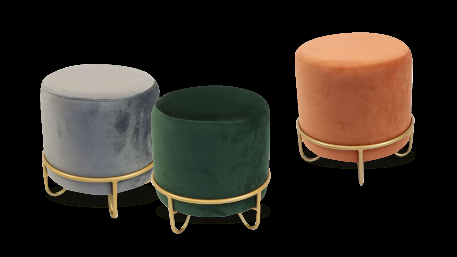 Tabure Fiebe sandstone (35x37 cm) dolazi u tri boje: sivoj, narančastoj i zelenoj, Pevex, 249 kn