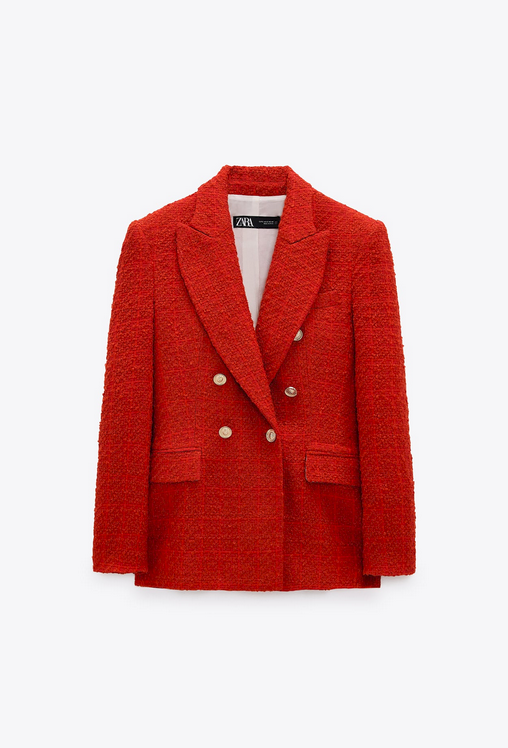 Zara, crveni sako, 399kn