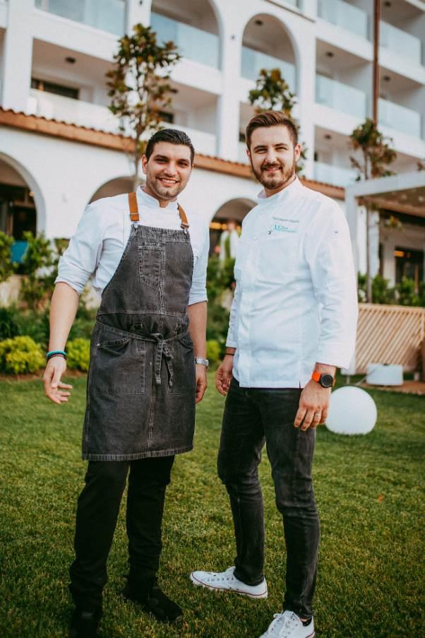 Stjepan Vukadin i chef Anastasios Paraskevaidis u Mount Athos Resortu