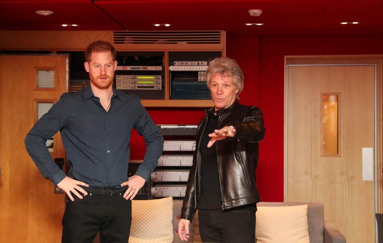 Princ Harry i Jon Bon Jovi